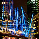 Kurilpa Bridge Lights by A.David Holloway