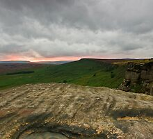 Stanage Last Light by James Grant