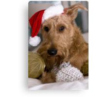 Irish Terrier Christmas Canvas Print