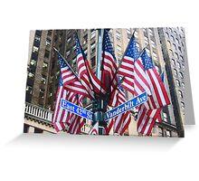 New York stars & stripes Greeting Card