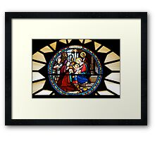 Nativity Window in Bethlehem... Framed Print
