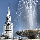 Fountain and St Martin's In The Field by Karen Martin IPA