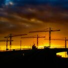 Construction Sunset by InvictusPhotog