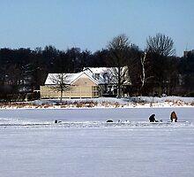 Ice Fishing Shabbona Lake by Brian Gaynor