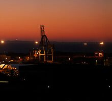 Fremantle Port  at Dusk by Sandra Chung