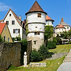 Town wall in Dettelbach, Franconia, Germany. by David A. L. Davies