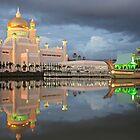 Mosque  Sultan Omar Ali Saifuddin in Brunei by reisefoto