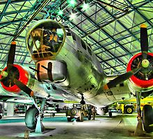 Boeing B17G - Hendon - Colour - HDR by Colin J Williams Photography