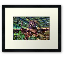 Avro Lancaster 1 - Hendon - HDR Framed Print