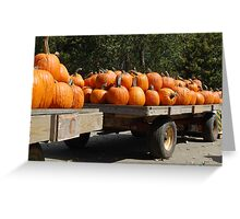 Pumpkin Wagon Greeting Card