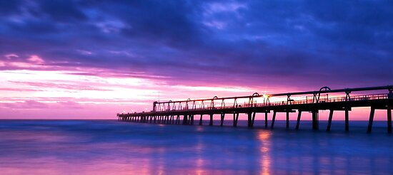 Sand Pumping Jetty - Gold Coast Qld by Beth  Wode