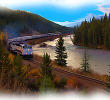 The Rocky Mountaineer - Digital Art by JamesA1