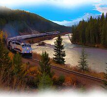 The Rocky Mountaineer - Digital Art by JamesA1