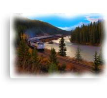 The Rocky Mountaineer - Digital Art Canvas Print