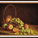 Fruit in a Basket ( still life ) by Irene  Burdell