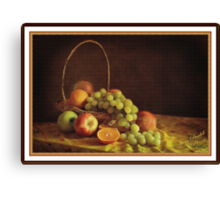 Fruit in a Basket ( still life ) Canvas Print