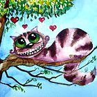 The Cheshire Cat - so much love by StressieCat
