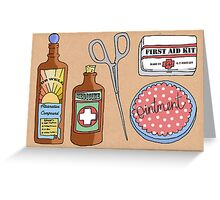 Medical Items Greeting Card