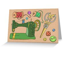 Sewing Time Greeting Card