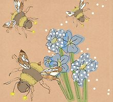 Buzzing Bee's in three's.... by Samantha Mabley