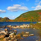 &#x27;Jordan Pond and the Bubbles, Fall Color&#x27; by Scott Bricker