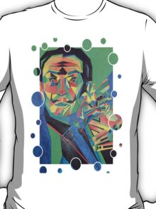 Salvador Dali with Ocelot and Cane T-Shirt