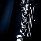 Clarinet detail blue IV by sustine