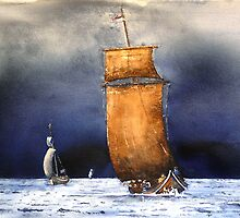 Viking boat by sosivertsen