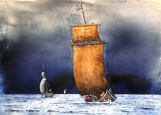 Viking boat by sosivertsen