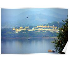 Flying over Lake Pichola Poster