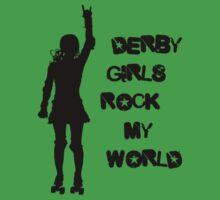 Derby Girls Rock My World (black) by levywalk