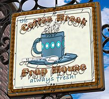 Coffee Break Frap House Retro Neon Sign by Anthony Ross