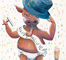 New Year's Hog by Nadine Rippelmeyer