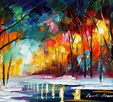 DARK MOMENT - Original Art Oil Painting By Leonid Afremov by Leonid  Afremov