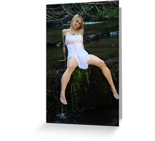 Girl in a White Dress Greeting Card