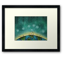 You light up my world Framed Print