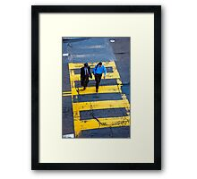 San Francisco crosswalk Framed Print