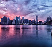 NYC Skyline at sunset by Flux Photography