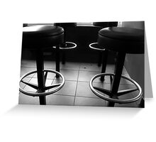 Black and White Stools. Greeting Card