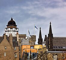 Edinburgh Rooftops by Lynne Morris