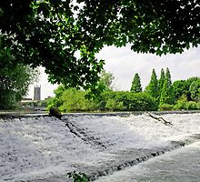 River Derwent Weir, Derby by Rod Johnson