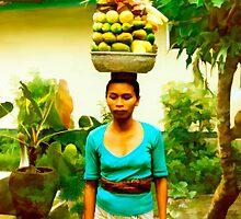 Balinese Woman by Kurt  Van Wagner