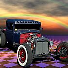 "1931 Ford Pickup ""Old School Hot Rod"" by TeeMack"