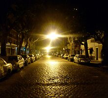 Street at night, street at light by Alex Jacobs