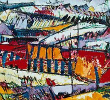 Panaromic Landscape with Divisions(detail two) by Graham Cox