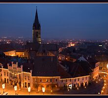Sibiu by Night by Catalina Negoita