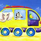 Animal safari beach van by MelleVaroy