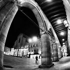 Fisheye Urban CityScape from Arcades of Bologna Italy by Francesco Malpensi