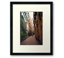 Needless Alley Framed Print