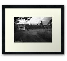 Low lying Thatch on the Foothills, Killbegs, Donegal. Framed Print